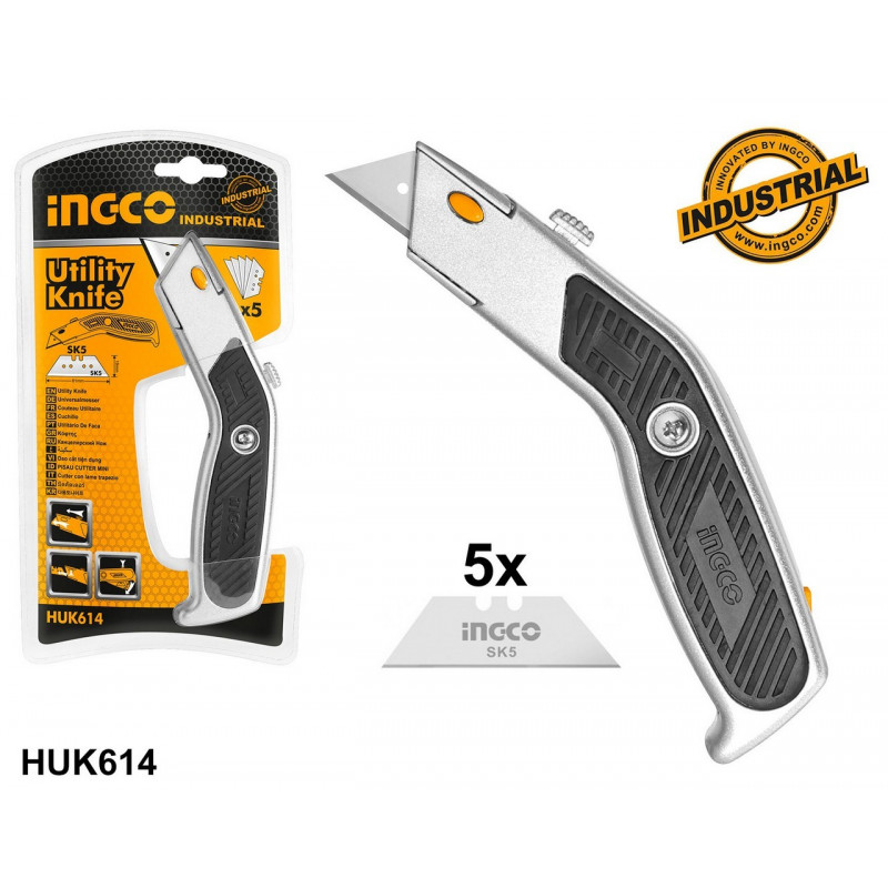 Ingco HUK614 - Couteau Utilitaire